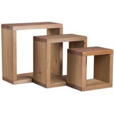 Core Products Corona Set Of 3 Square Wall Cubes