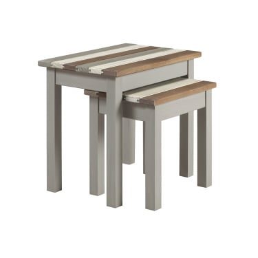 Core Products Corona Vintage Grey Wax Pine Nest of Tables (CRV907)