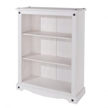 Core Products Corona White Washed Low Bookcase