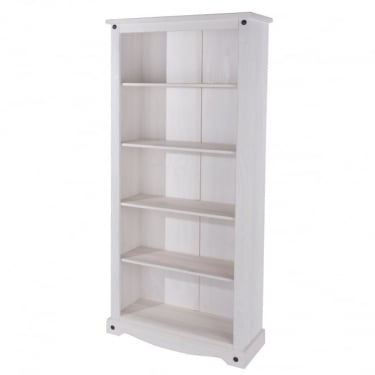 Core Products Corona White Washed Tall Bookcase