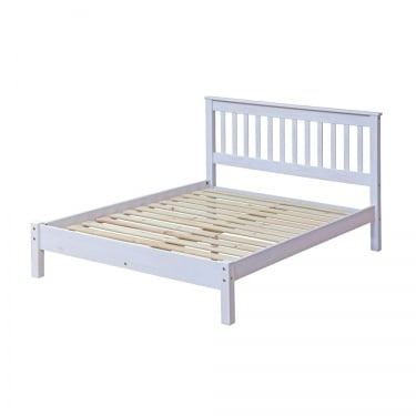 Core Products Corona White Washed Wax Effect Pine 4'6 Bed (CRW460LE)