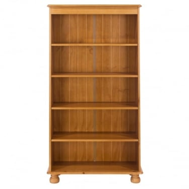 Core Products Dovedale Antique Honey Tinted Lacquer Pine Tall Bookcase with Adjustable Shelves (DD913)