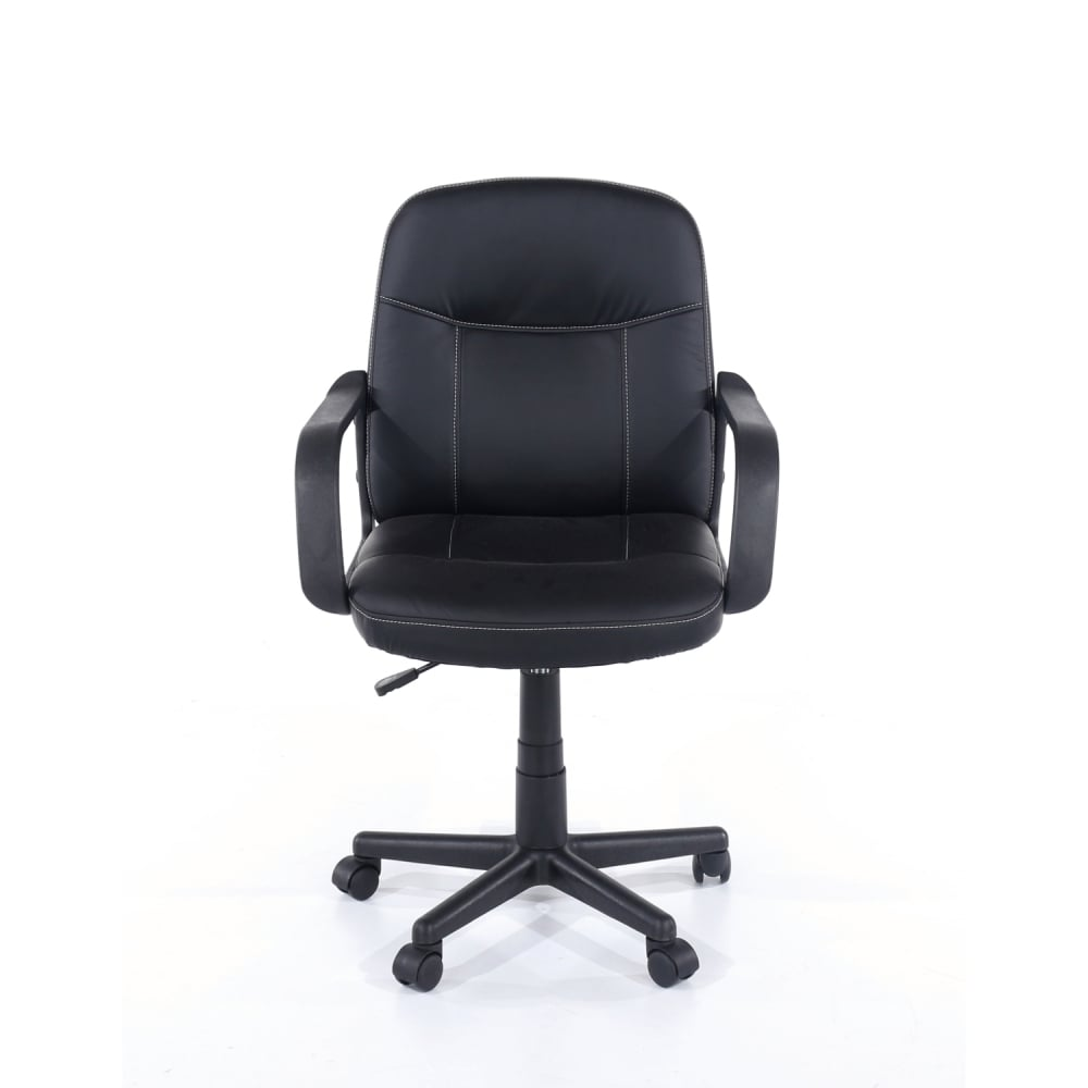 Core products earl black office chair at leader stores - Home office furniture components ...