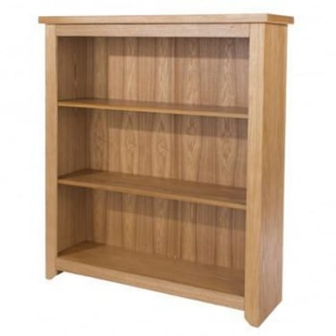 Core Products Hamilton American White Oak Low Bookcase with Adjustable Shelves (HM612)