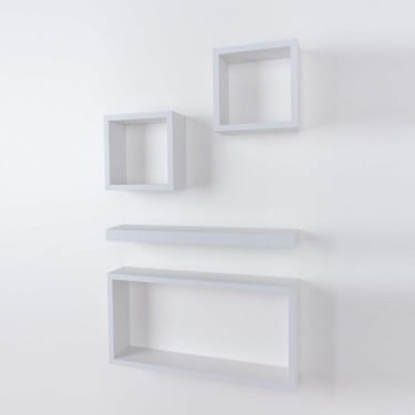 Core Products Hudson HD4WH Matt White 4 Piece Shelving Kit