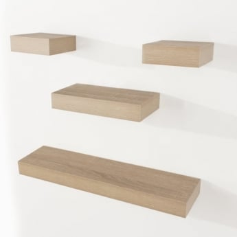 Core Products Hudson HD5OK Oak 4 Piece Narrow Shelving Kit