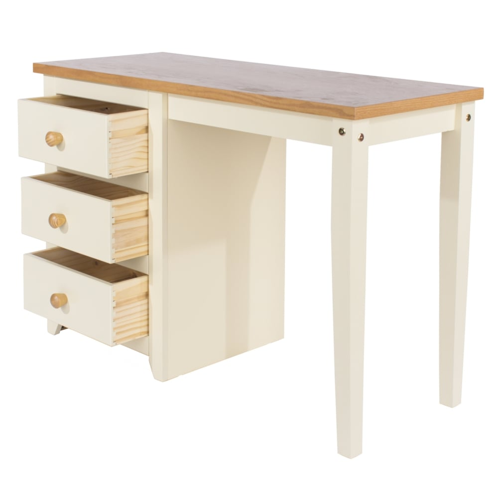 Core products jamestown single pedestal dressing table for Home furniture dressing table