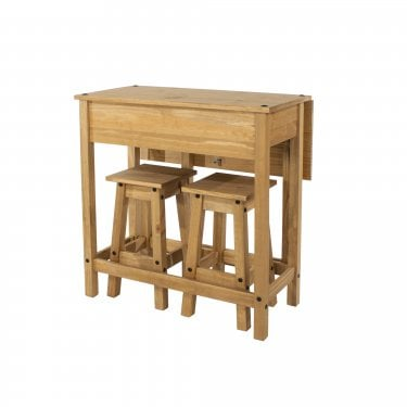 Corona Antique Pine Folding Dining Set