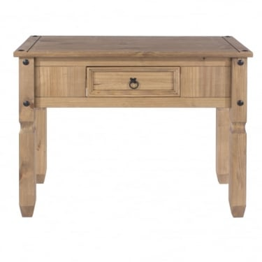 Corona Antique Wax Pine 1 Drawer Console Table