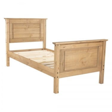 Corona Antique Wax Pine 4'6 High End Bed