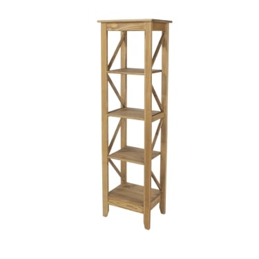 Corona Antique Wax Pine Narrow 5 Tier Shelf Unit