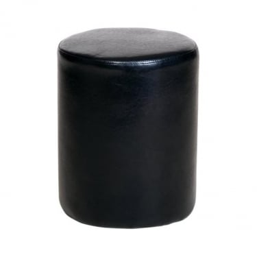 Corona Black Faux Leather Round Stool