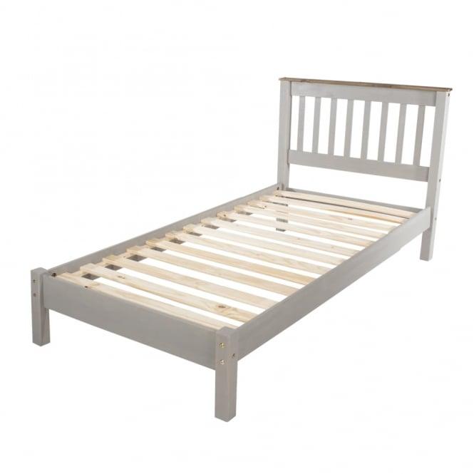 Corona Double (4'6'') Low End Bed, Grey
