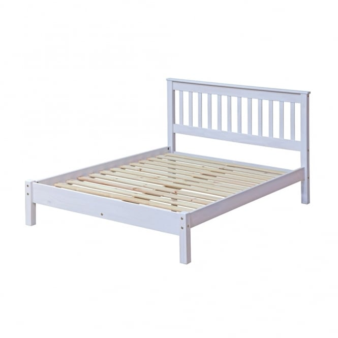 Corona Double (4'6'') Low End Bed, White