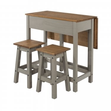 Corona Grey & Antique Pine Folding Dining Set