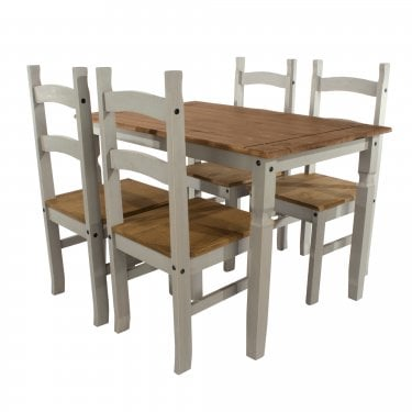 Corona Grey & Antique Pine Medium Dining Set