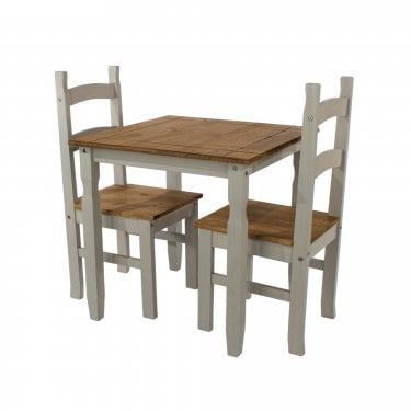 Corona Grey & Antique Pine Small Dining Set