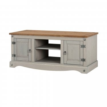 Corona Grey & Antique Pine Wide TV Unit