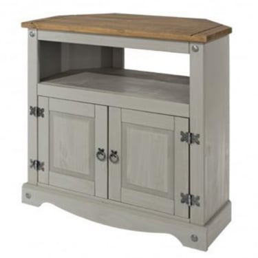 Corona Grey Washed Effect Pine 2 Door TV Unit