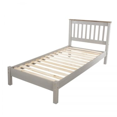 Corona Grey Washed Effect Pine 3'0 Bed
