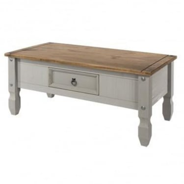 Corona Grey Washed Effect Pine Coffee Table