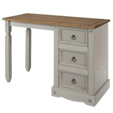 Corona Grey Washed Effect Pine Dressing Table