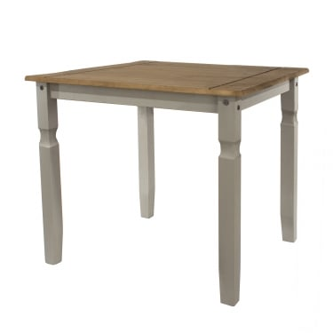 Corona Grey Washed Effect Pine Square Dining Table