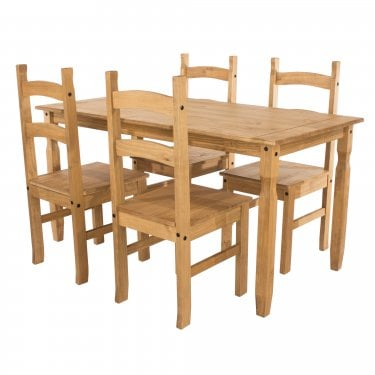 Corona Medium Antique Pine Dining Set