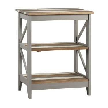 Corona Vintage Grey Wax Pine Wide 3 Tier Shelf Unit
