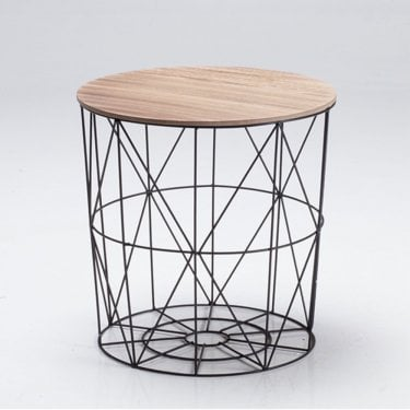 Cosmo Oak & Black Cage Table