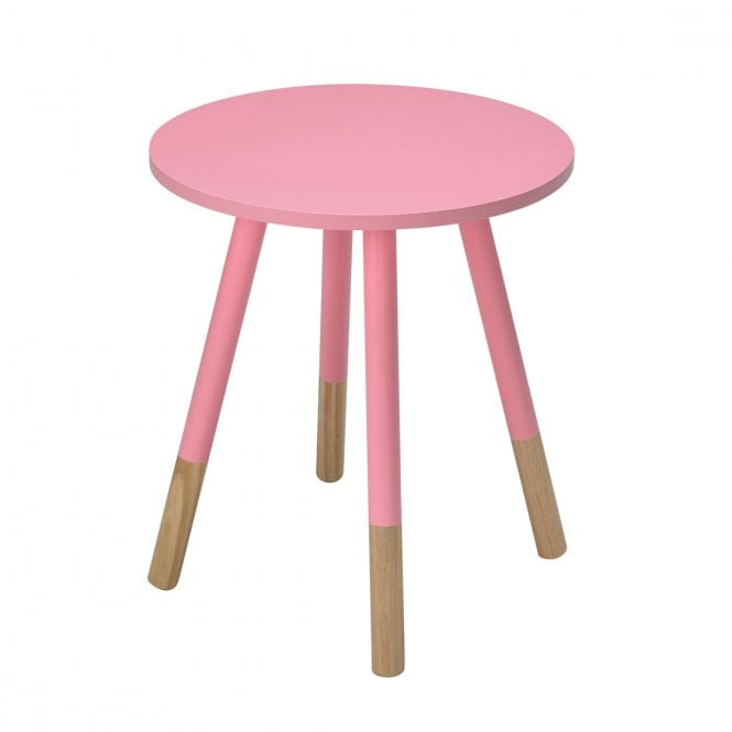 Costa Round Side Table, Pink