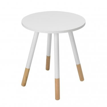 Costa White Side Table