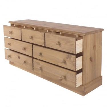 Cotswold Antique Wax Pine 7 Drawer Chest