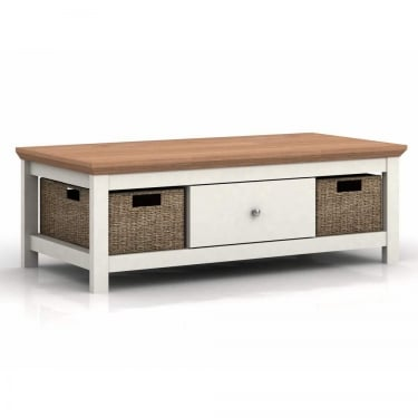 LPD Furniture Cotsworld Cream 1 Drawer Coffee Table (COTSCOFCRE)
