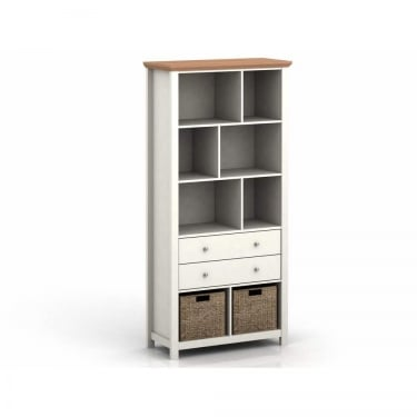 LPD Furniture Cotsworld Cream 2 Drawer Bookcase (COTSBOOKCRE)