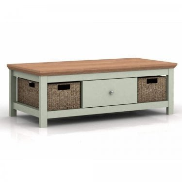 LPD Furniture Cotsworld Grey 1 Drawer Coffee Table (COTSCOFGREY)