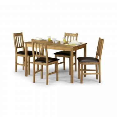 Coxmoor Rectangular Dining Set Of 4, White Oak