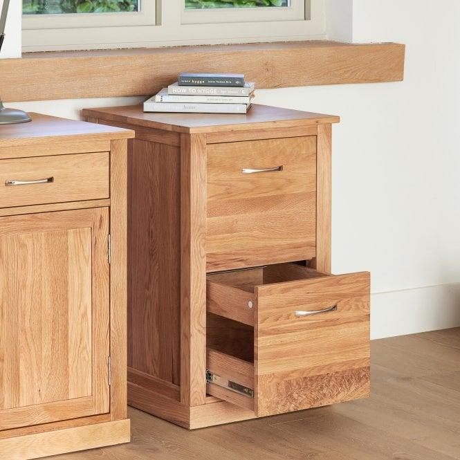 Crawford 2 Drawer Filing Cabinet, Oak