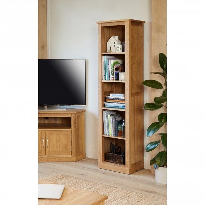 Crawford Narrow Bookcase, Oak