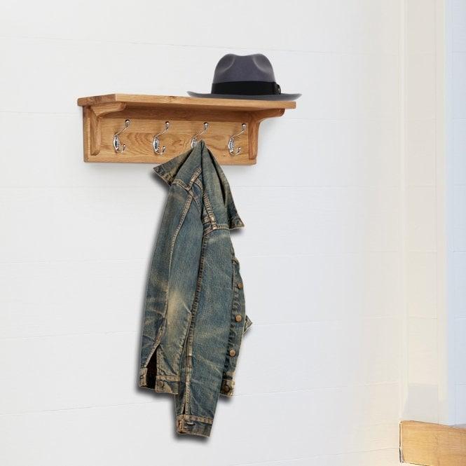 Crawford Wall Mounted Coat Rack, Oak