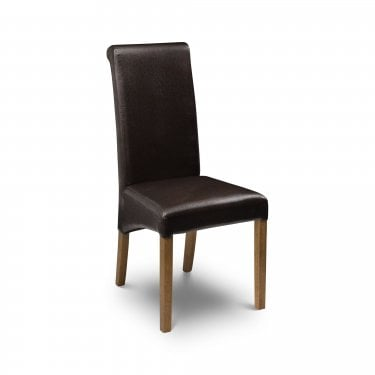 Cuba Brown Faux Leather Dining Chair
