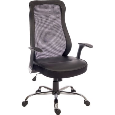 Curve Black Executive Chair with Steel Base