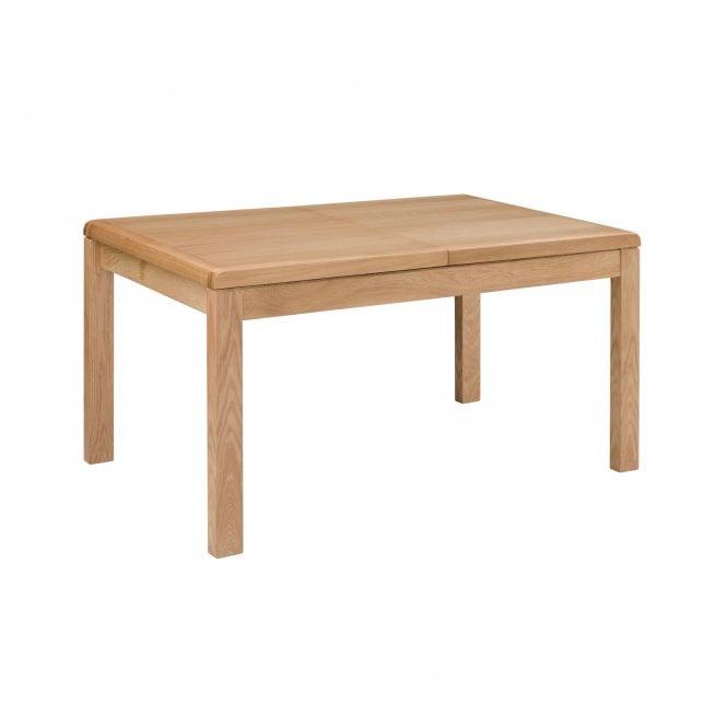Curve Rectangular Extending Dining Table, Oak