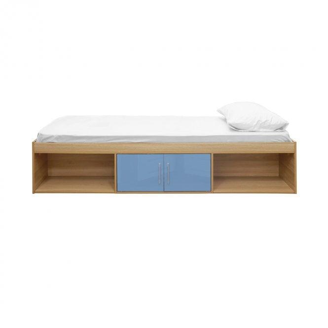 Dakota Single (3'0'') 2 Door Cabin Bed, Blue & Oak