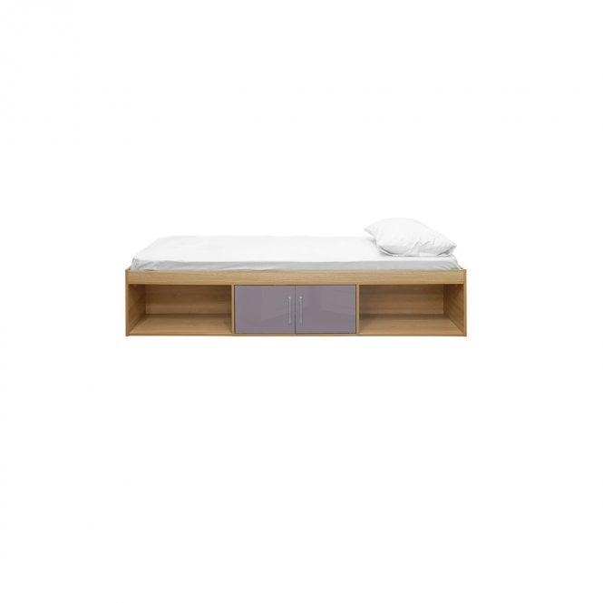 Dakota Single (3'0'') 2 Door Cabin Bed, Grey & Oak