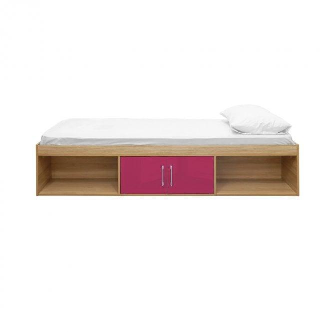 Dakota Single (3'0'') 2 Door Cabin Bed, Pink & Oak