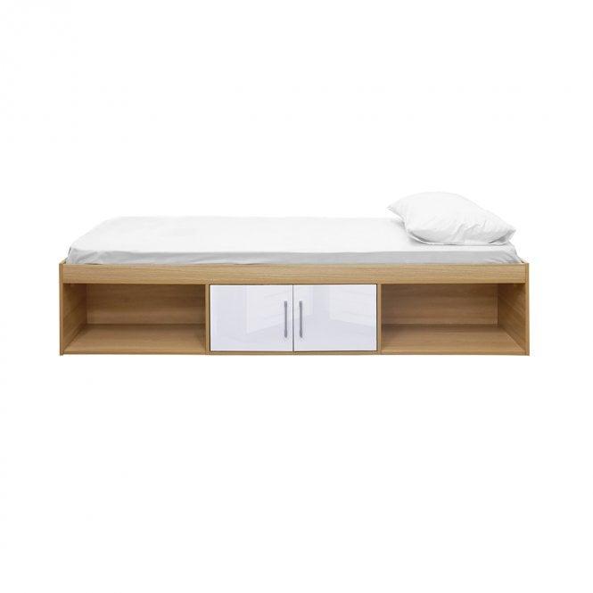 Dakota Single (3'0'') 2 Door Cabin Bed, White & Oak
