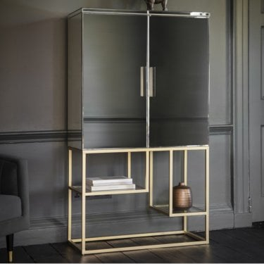 Dali Cocktail Cabinet, Black & Champagne