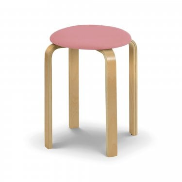 Dandy Stool, Pink Faux Leather