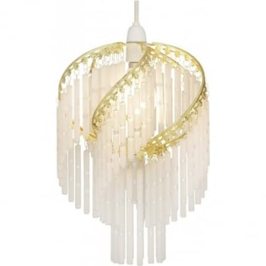 Oaks Lighting Dara Non Electric Polished Brass Pendant Shade